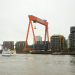 Eriksbergskranen idag med en orangeröd kulör. Foto Lena Knutson Udd 2016