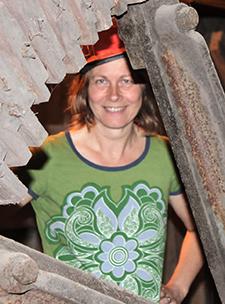Lena Knutson Udd vid Flatenbergs hytta 2011